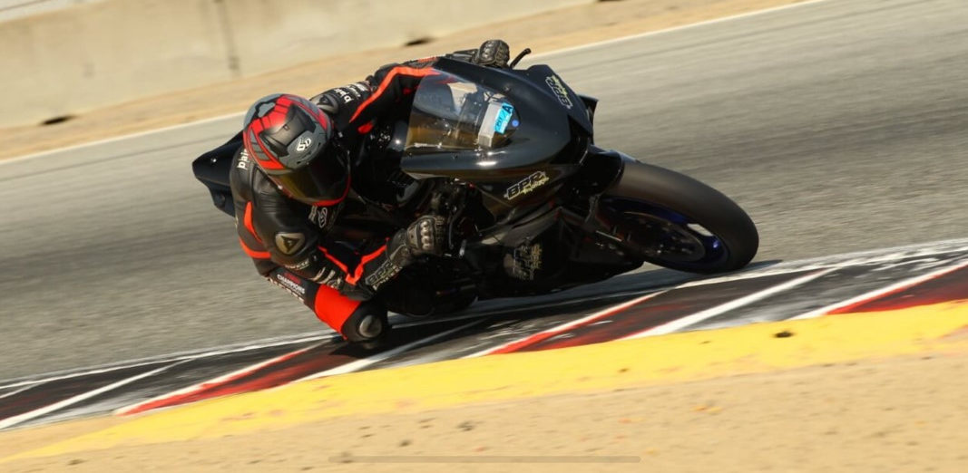 Bryce Prince testing his BPR Tuning Yamaha at Buttonwillow Raceway Park. Photo by Dito Milian/GotBlueMilk.com.