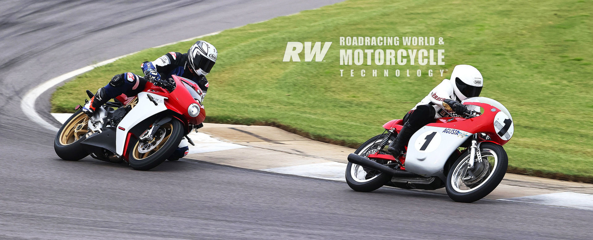 Racing Editor Ulrich following Chuck Huneycutt, (riding the MV Agusta Triple Giacomo Agostini used to win the 1967 500cc World Championship) for a video you can see on Roadracing World's YouTube channel. Photo by Brian J. Nelson.