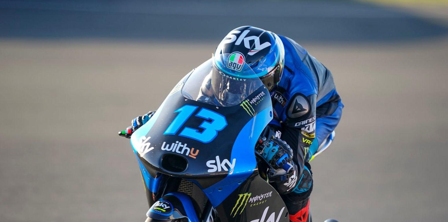 Celestino Vietti (13). Photo courtesy Sky Racing VR46.