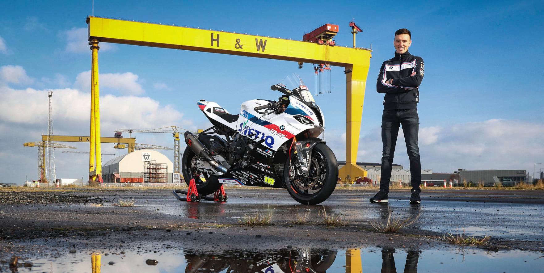 Andrew Irwin with a SYNETIQ BMW S1000RR. Photo courtesy SYNETIQ BMW.
