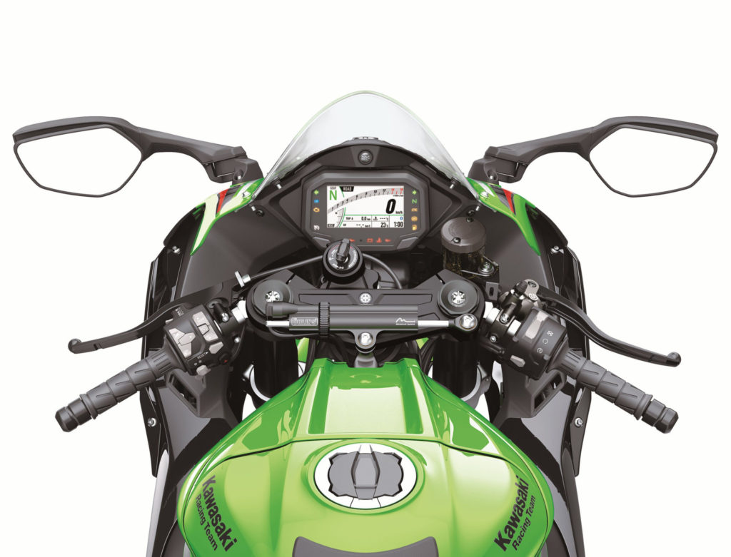 The cockpit of a 2021-model Kawasaki ZX-10R. Photo courtesy Kawasaki Motors Corp., U.S.A.