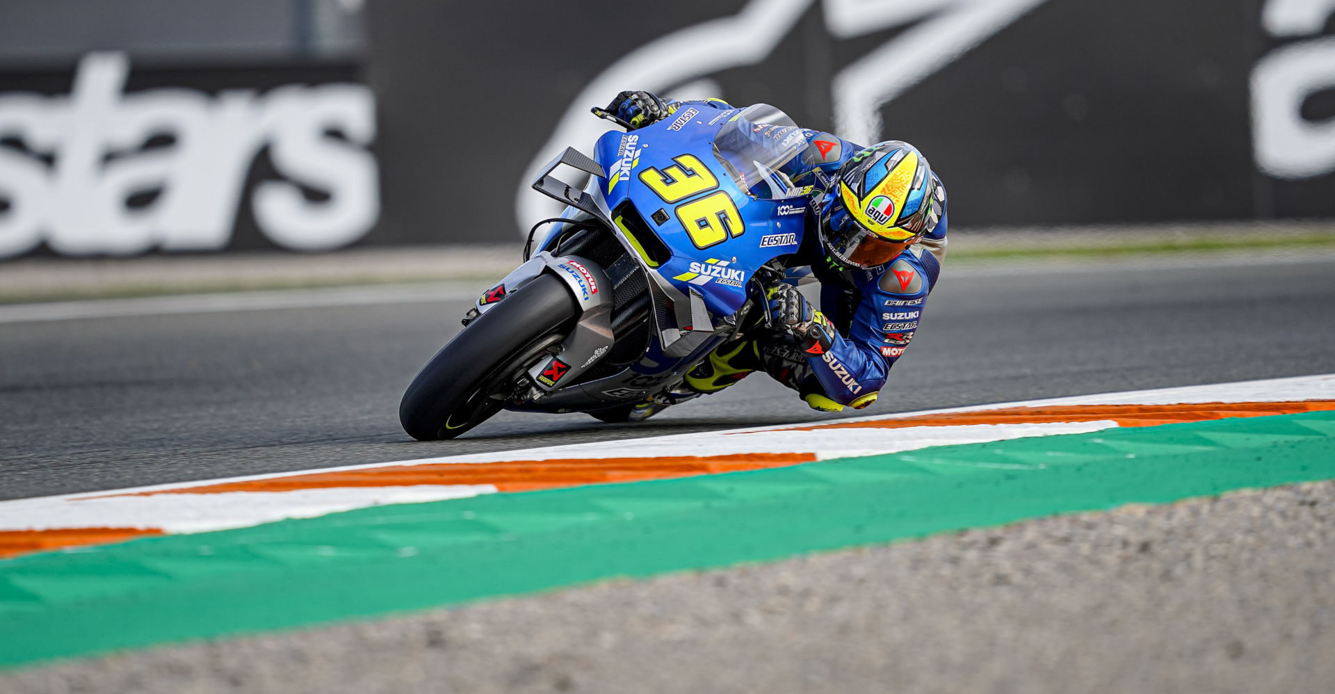 MotoGP World Championship point leader Joan Mir (36). Photo courtesy Team Suzuki ECSTAR.