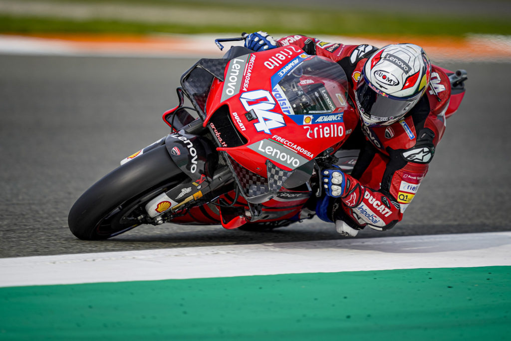 Andrea Dovizioso (04). Photo courtesy Ducati.