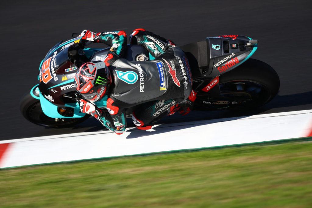 Fabio Quartararo (20). Photo courtesy PETRONAS Yamaha SRT.