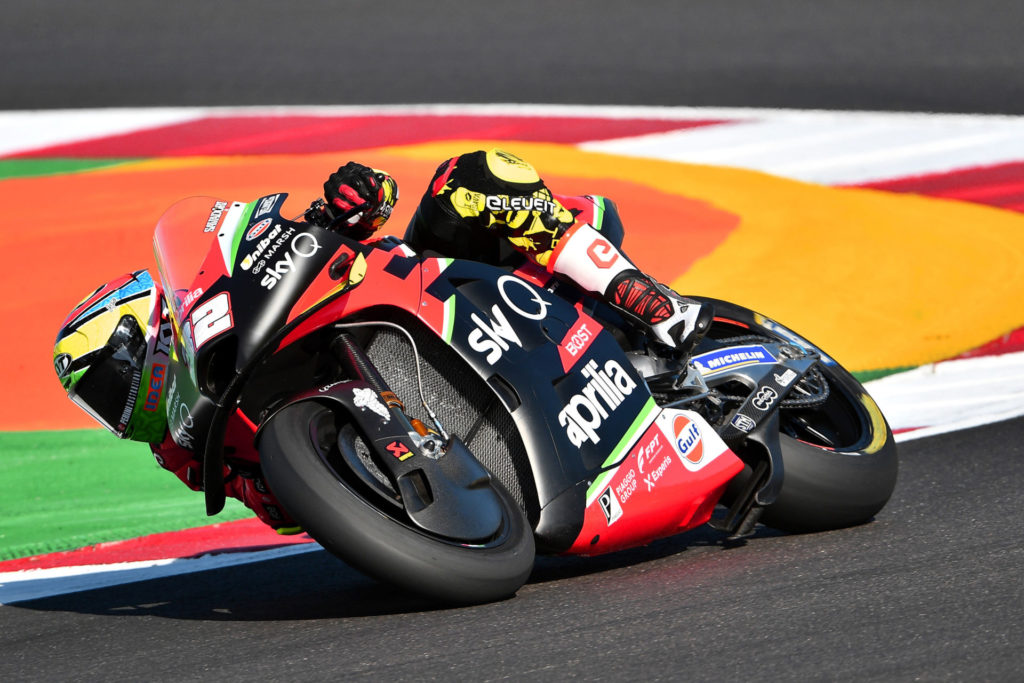 Lorenzo Savadori (32). Photo courtesy Aprilia Gresini Racing.