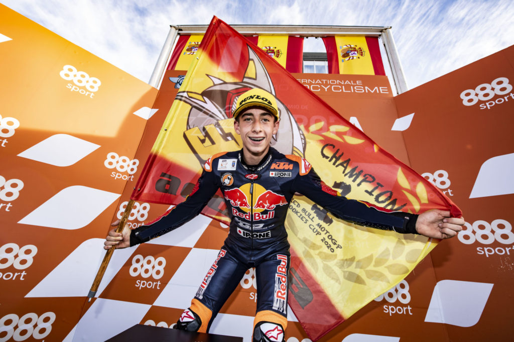 Pedro Acosta, the 2020 Red Bull MotoGP Rookies Cup Champion. Photo courtesy Red Bull.