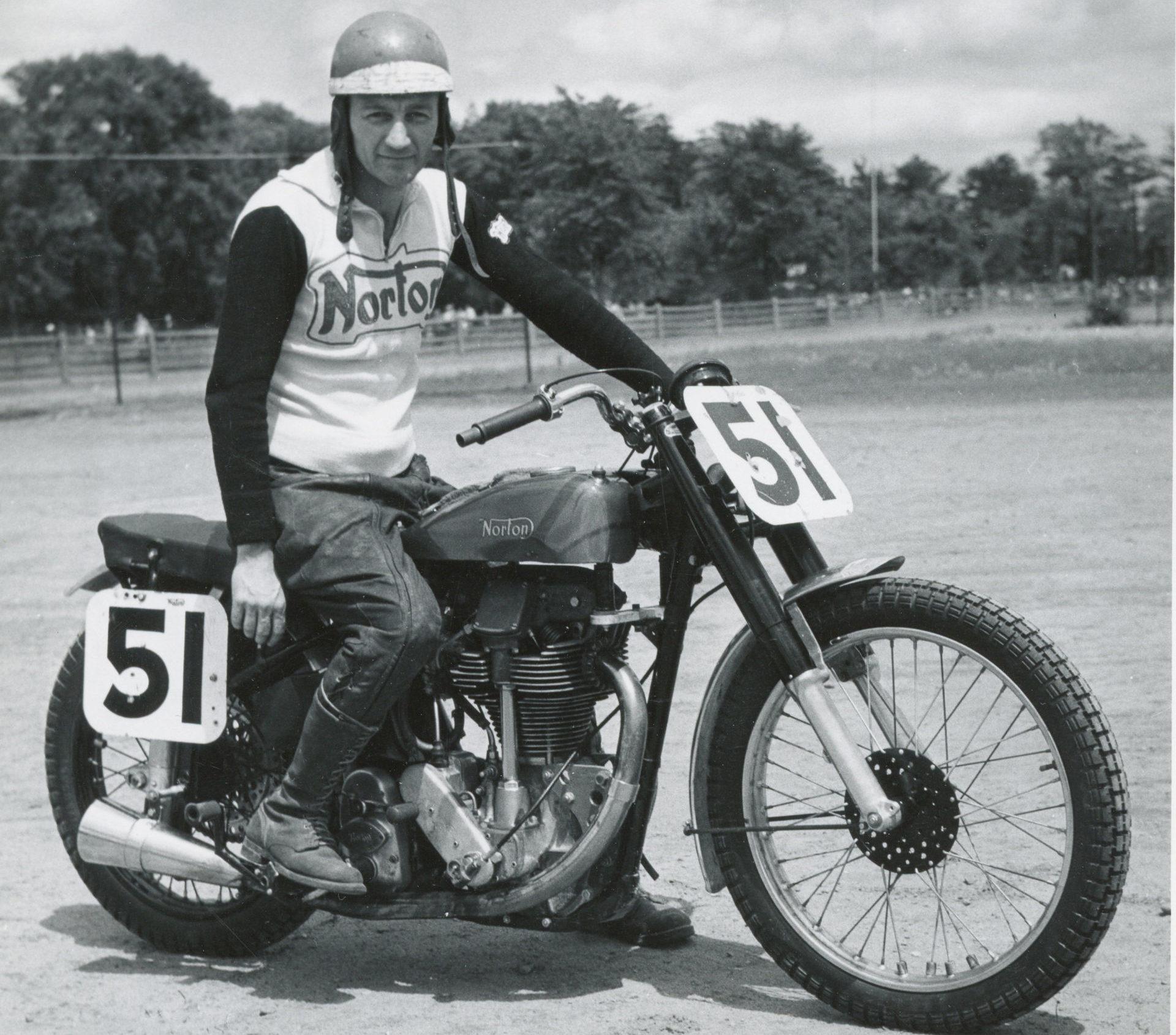 Bill Tuman, circa 1952. Photo courtesy AMA Hall of Fame Museum.