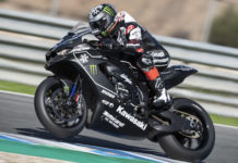 Jonathan Rea on his new Kawasaki Ninja ZX-10RR. Photo courtesy Kawasaki.