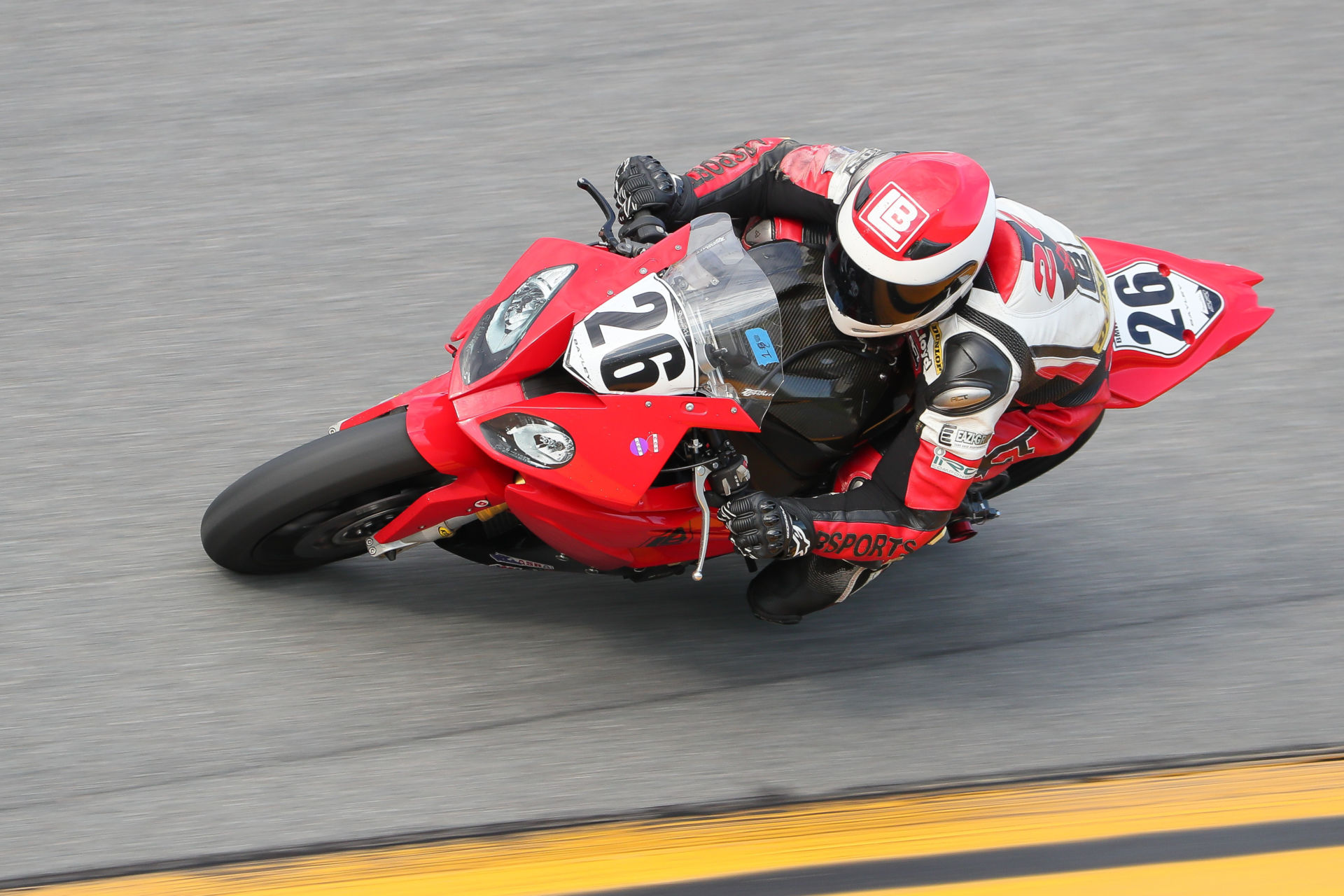 Lloyd Bayley (26) in action during the ASRA Team Challenge race at Daytona International Speedway in 2019. Photo by Brian J. Nelson.