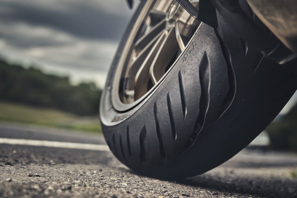 Bridgestone's new Battlax T32 tire. Photo courtesy Bridgestone.