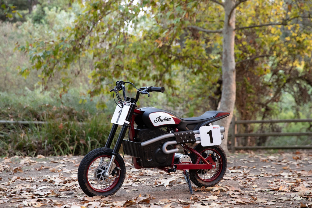 An Indian eFTR Jr. electric mini bike. Photo courtesy Indian Motorcycle.