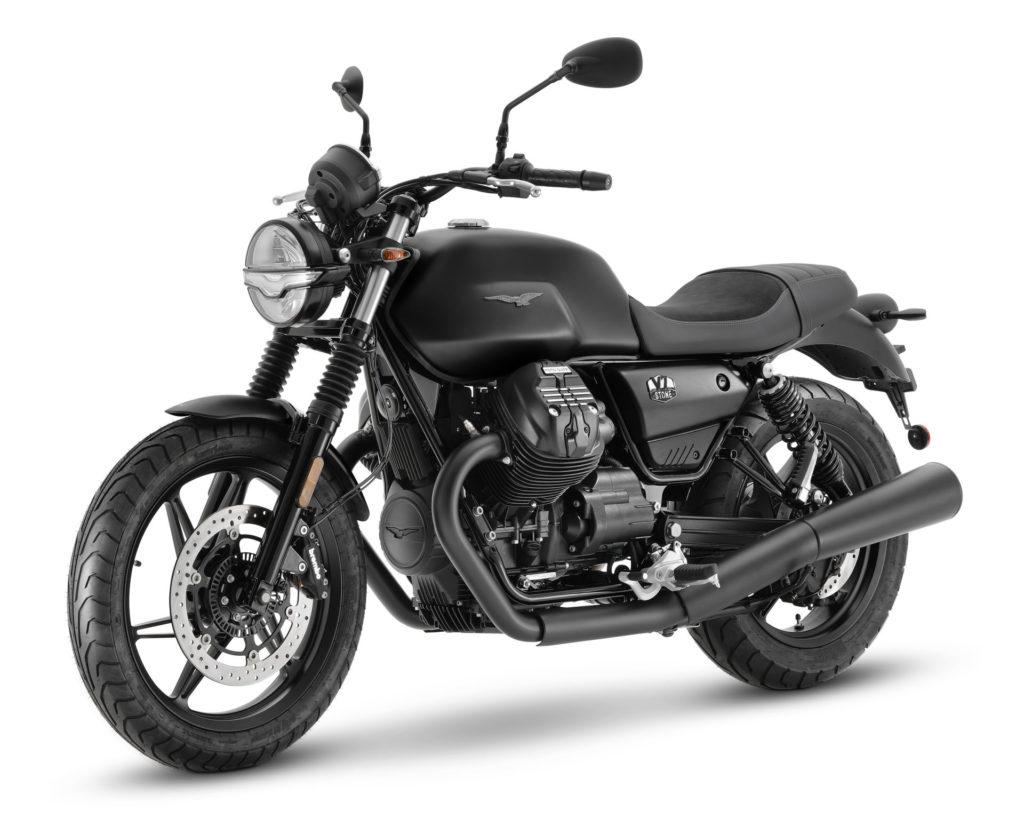 A 2021-model Moto Guzzi V7 Stone. Photo courtesy Piaggio Group.