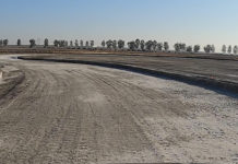 "The ""New Track"" at Buttonwillow Raceway Park under construction. Photo courtesy California Roadrace Association (CRA)."