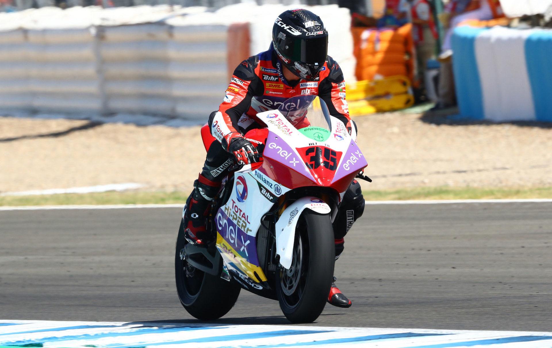 Lukas Tulovic(35). Photo courtesy Tech3 Racing.