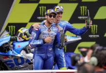 Team Suzuki ECSTAR riders Alex Rins (left) and Joan Mir (right). Photo courtesy Team Suzuki ECSTAR.