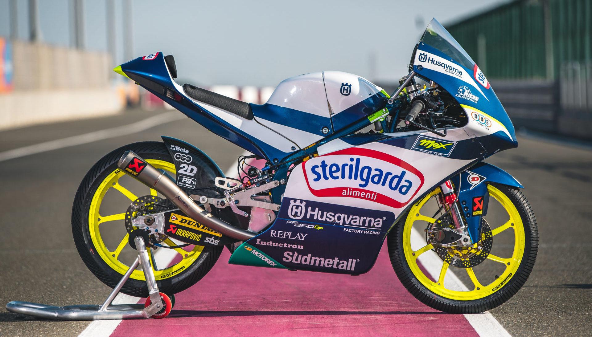 A 2020 Husqvarna Motorcycles FR 250 GP racebike. Photo courtesy Husqvarna.