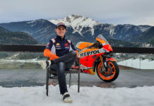 Pol Espargaro and his new Repsol Honda RC213V. Photo courtesy Repsol Honda.