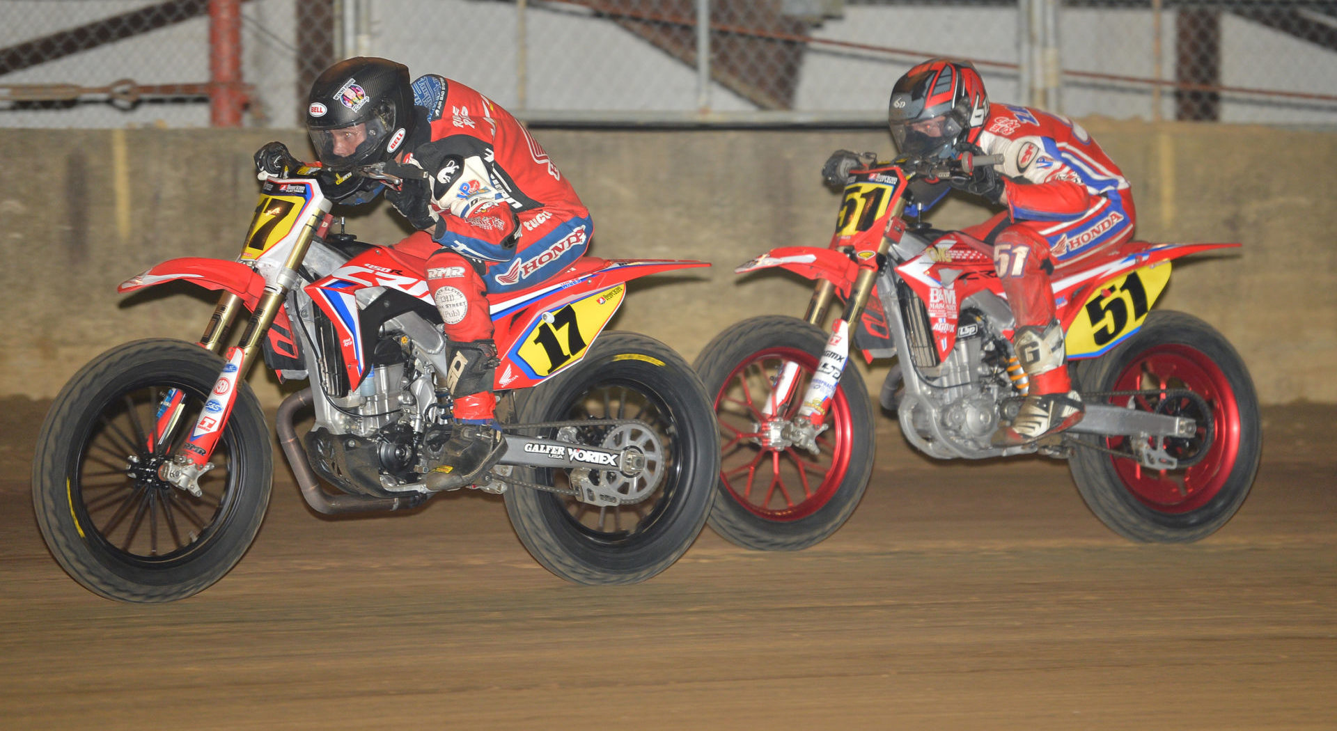 Henry Wiles (17), Cole Zabala (51), and Trevor Brunner (not pictured) will ride Turner Racing Honda CRF450R motorcycles in the 2021 AFT Singles Championship. Photo courtesy American Honda.