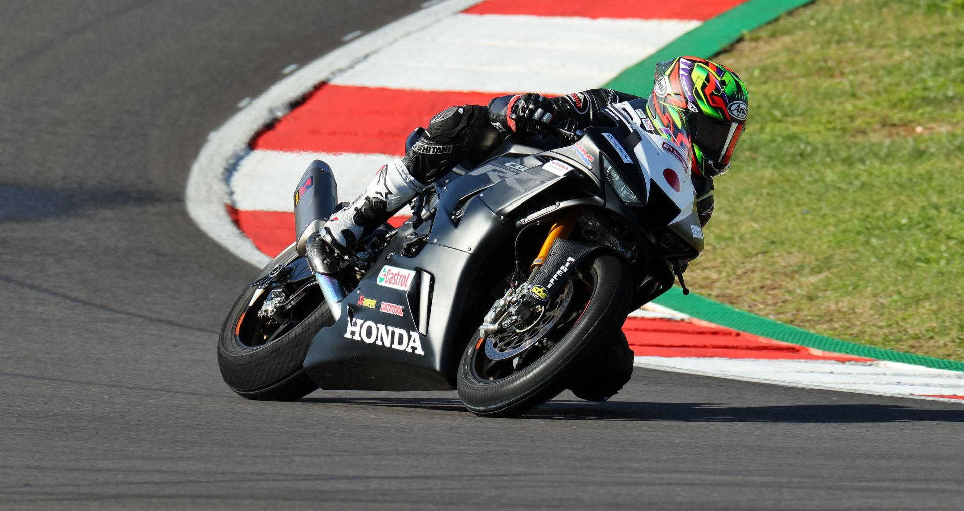 Ryo Mizuno during pre-season testing in Portugal. Photo courtesy Honda Racing.