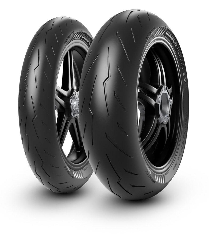 A set of Pirelli Diablo Rosso IV motorcycle tires. Photo courtesy Pirelli.