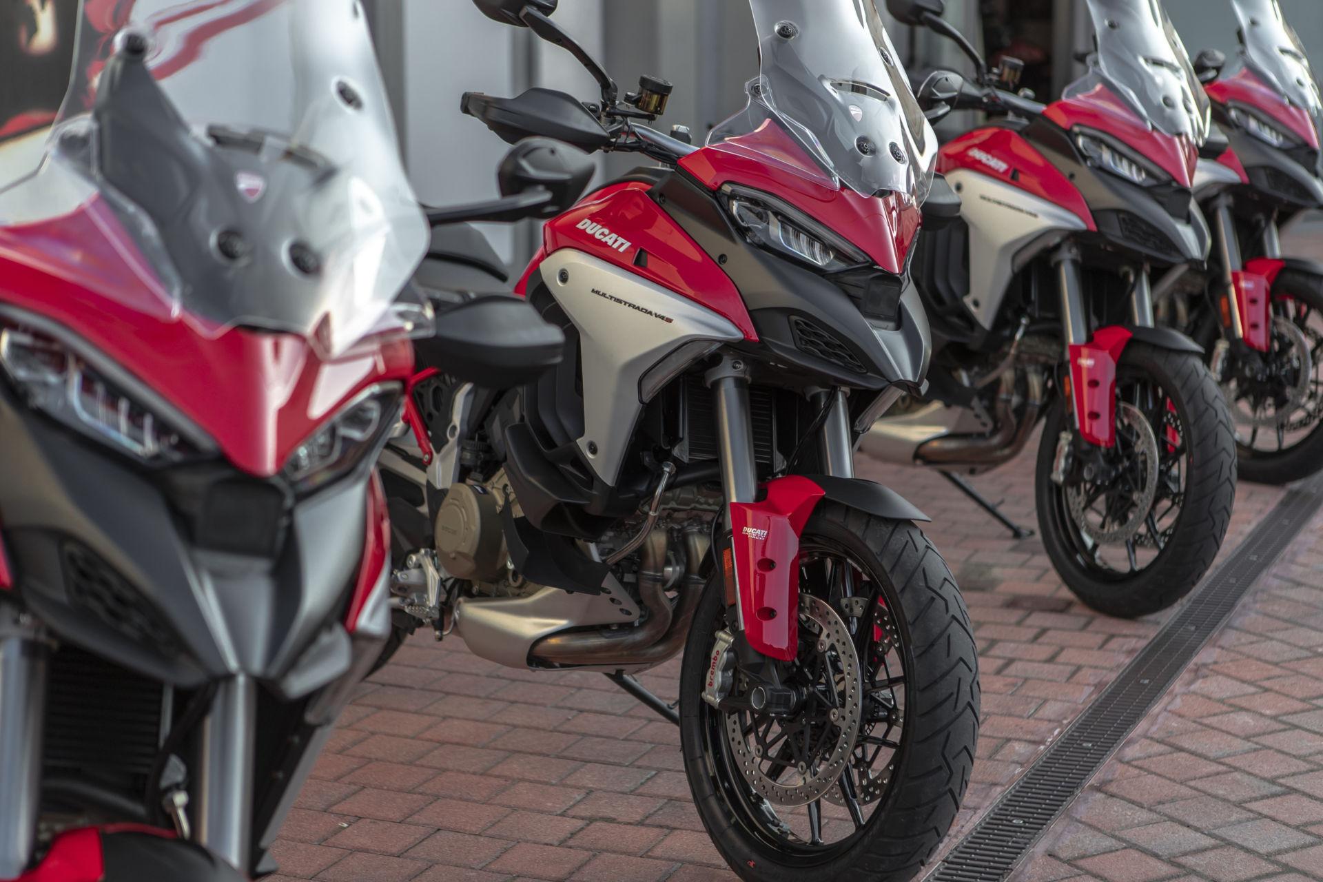 Ducati Multistrada V4 S motorcycles. Photo courtesy Ducati.