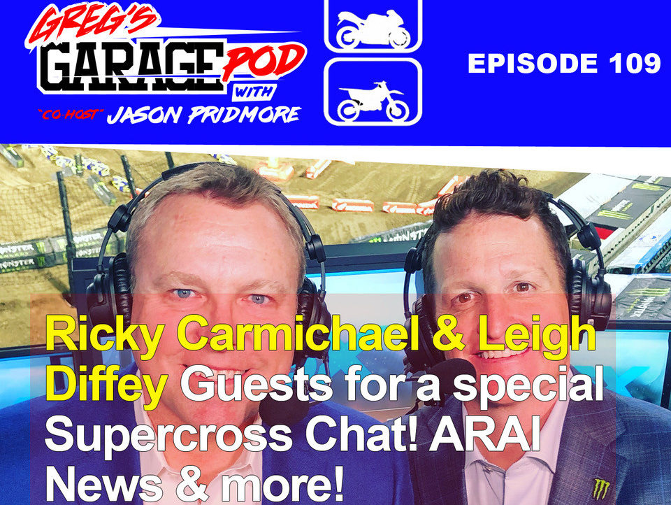 Leigh Diffey (left) and Ricky Carmichael (right). Photo courtesy Greg's Garage Pod.