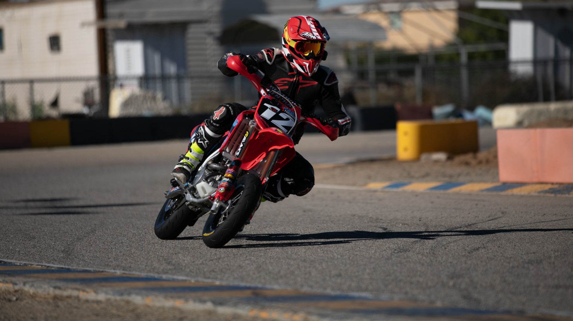 A rider using Dunlop's new TT93GP mini road racing tires. Photo courtesy Dunlop.