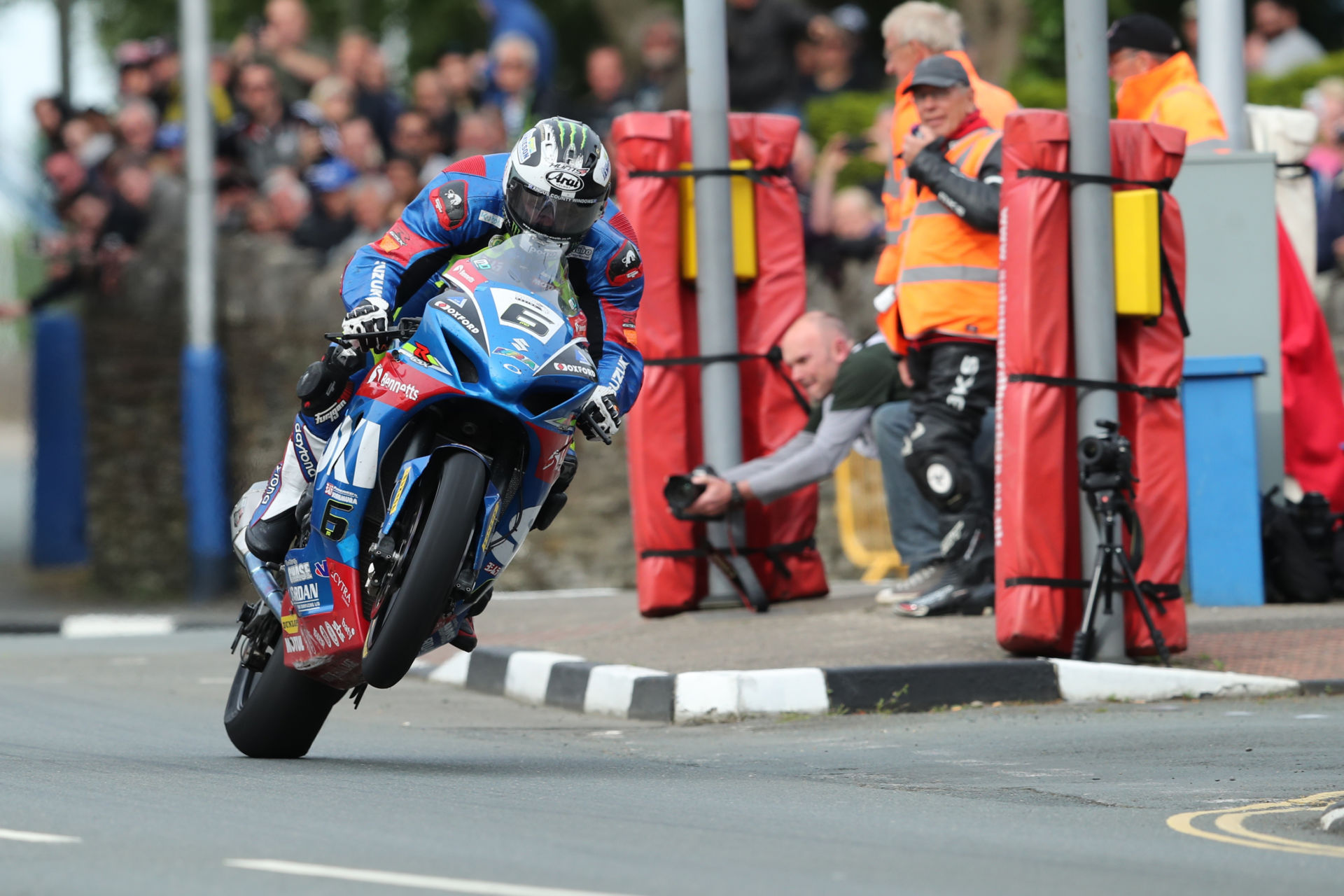 Michael Dunlop (6) during the Senior TT at the 2017 Isle of Man TT. Photo courtesy Isle of Man TT Press Office.