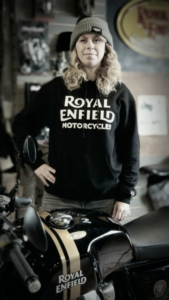 Royal Enfield Build Train Race road race participant Trisha Dahl. Photo courtesy Royal Enfield North America.