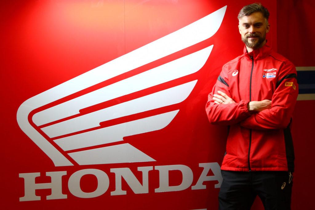 New HRC Honda World Superbike Team Manager Leon Camier. Photo courtesy Dorna WorldSBK Press Office.