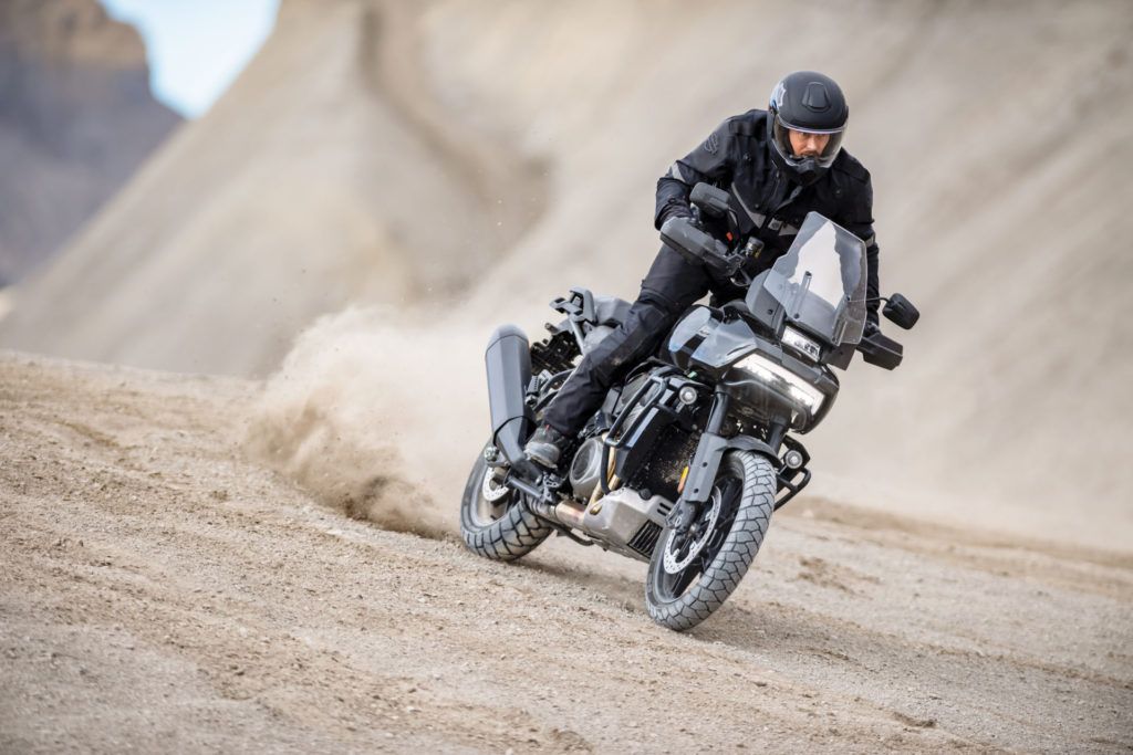 A 2021 Harley-Davidson Pan America 1250 in action. Photo courtesy Harley-Davidson.