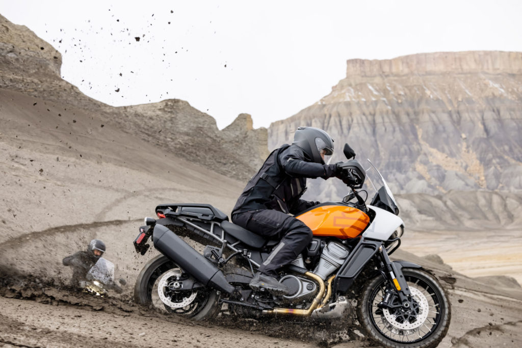 A 2021 Harley-Davidson Pan America 1250 Special in action. Photo courtesy Harley-Davidson.