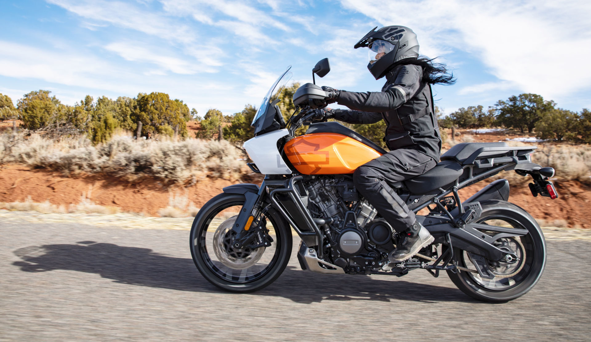 The 2021 Harley-Davidson Pan America 1250 Special can be fitted with Adaptive Ride Height. Photo courtesy Harley-Davidson.