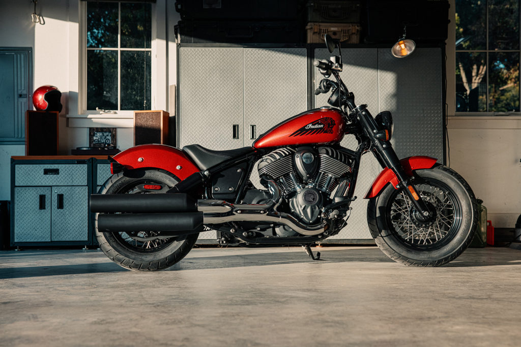 A 2022 Indian Chief Bobber. Photo courtesy Indian Motorcycle.