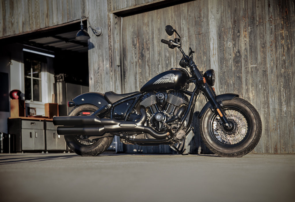 A 2022 Indian Chief Bobber Dark Horse. Photo courtesy Indian Motorcycle.
