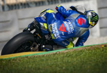 2020 MotoGP World Champion Joan Mir riding a Suzuki GSX-R1000 at Circuit de Barcelona-Catalunya. Photo courtesy Dorna.