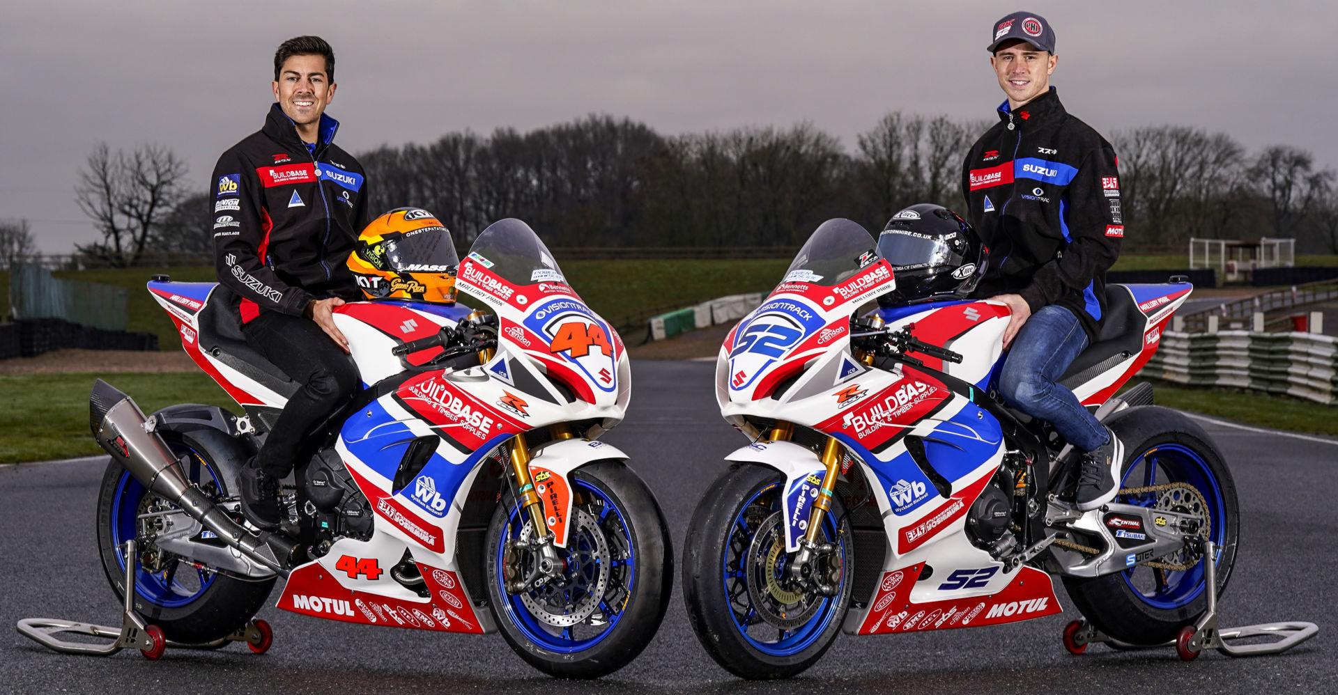 Gino Rea (left) and Danny Kent (right). Photo courtesy Team Suzuki News Service.