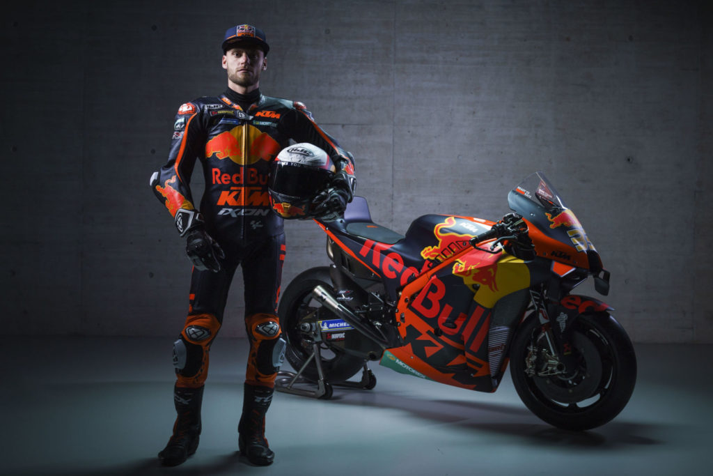 Brad Binder and KTM RC16. Photo by Sebas Romero, courtesy KTM Factory Racing.