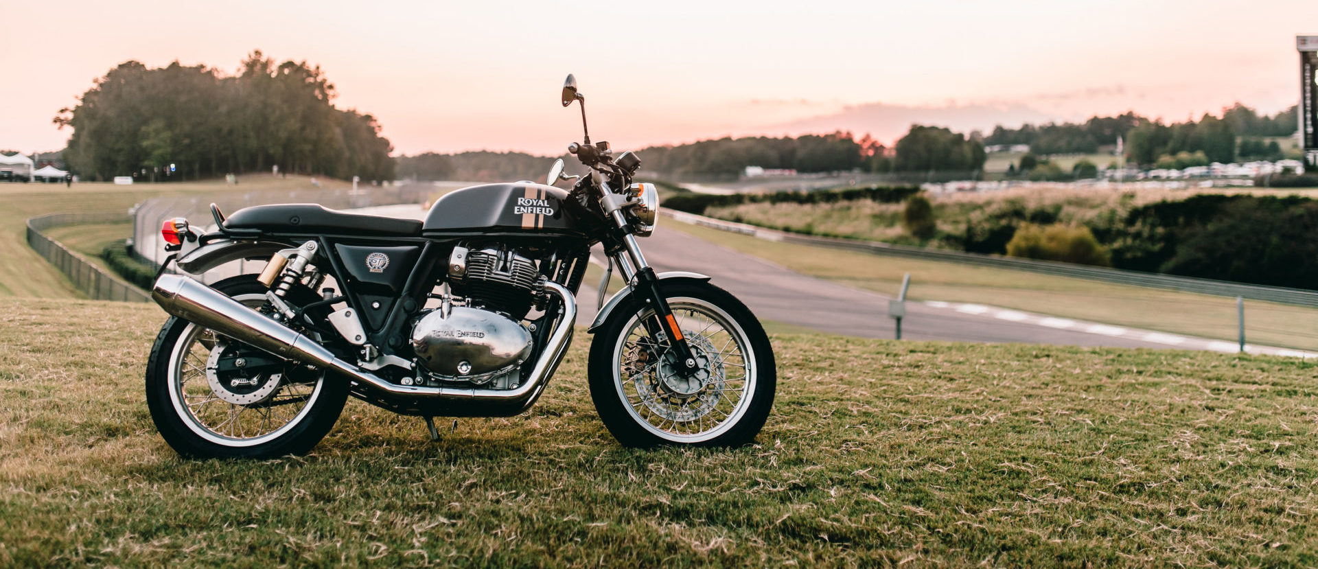 A Royal Enfield Continental GT 650 at Barber Motorsports Park. Photo by Brandon Lajoie, courtesy MotoAmerica.