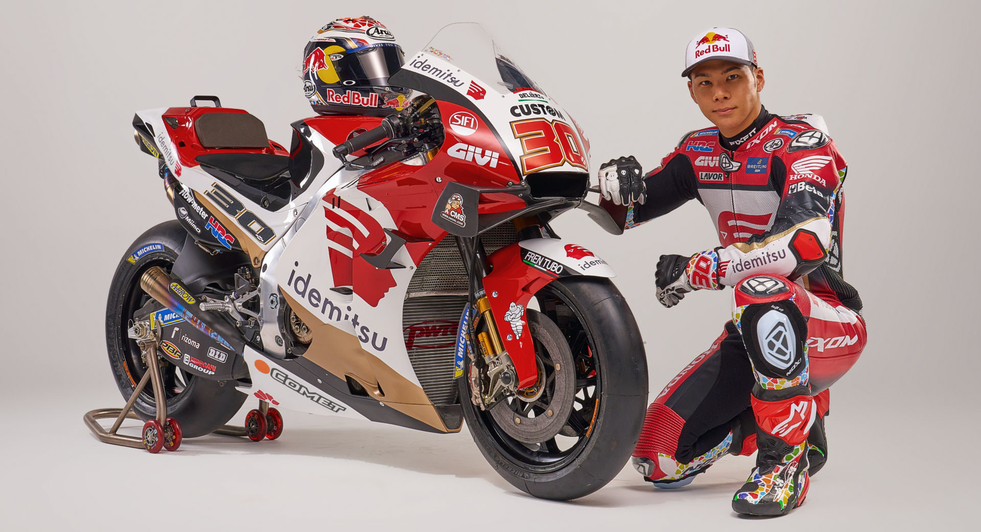 Takaaki Nakagami and his LCR Honda IDEMITSU RC213V. Photo courtesy LCR Honda IDEMITSU.