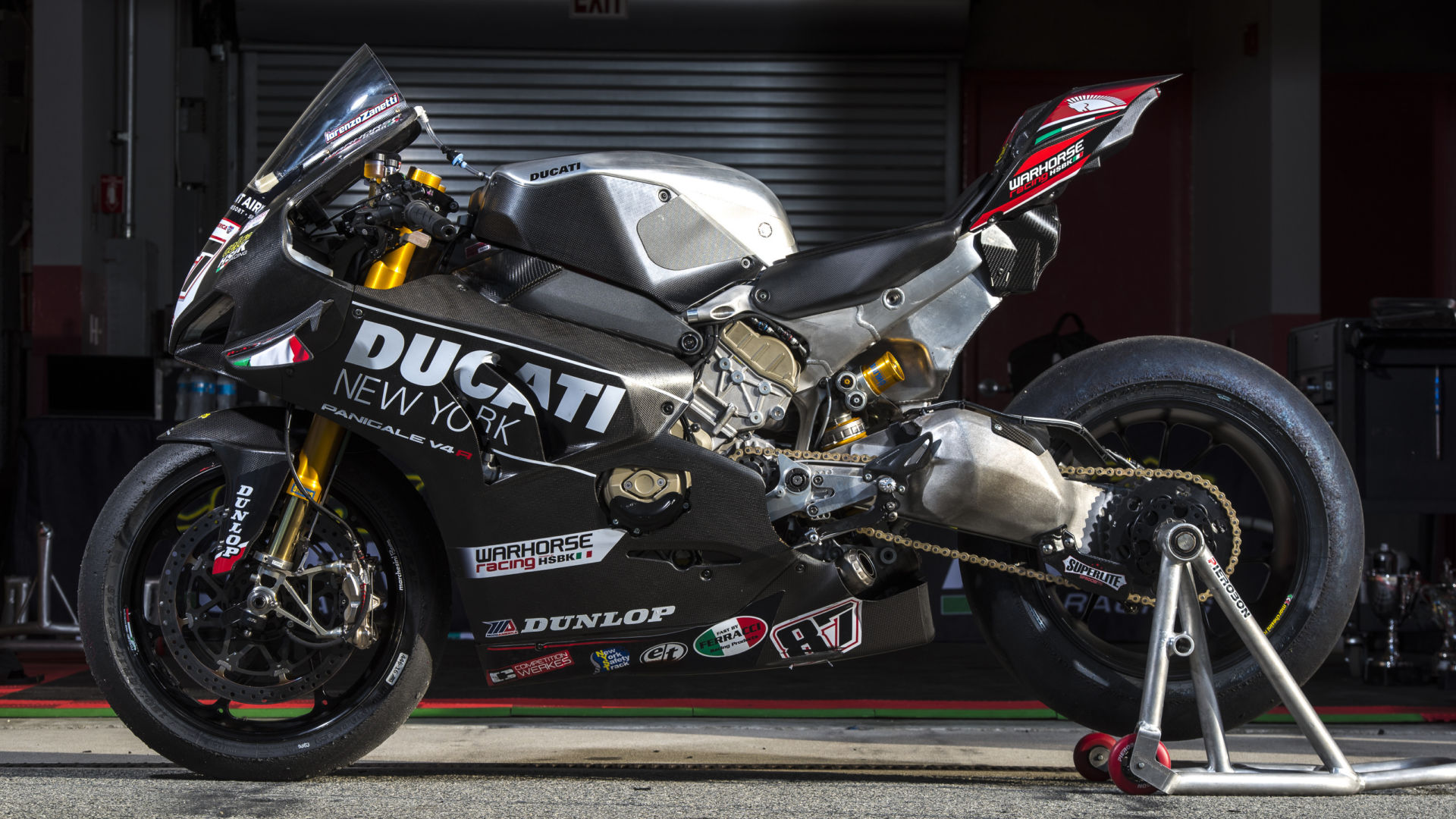 The Warhorse HSBK Racing Ducati New York Panigale V4 R Superbike. Photo courtesy Warhorse HSBK Racing Ducati New York