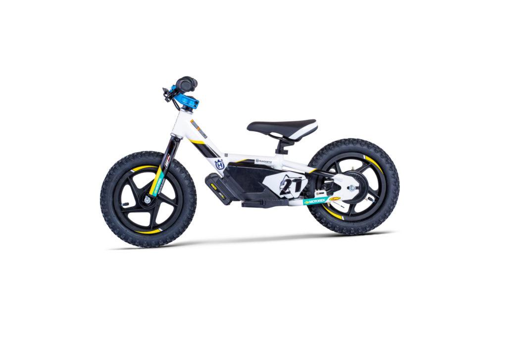 A Husqvarna 12eDrive electric balance bike. Photo courtesy Husqvarna Motorcycles.
