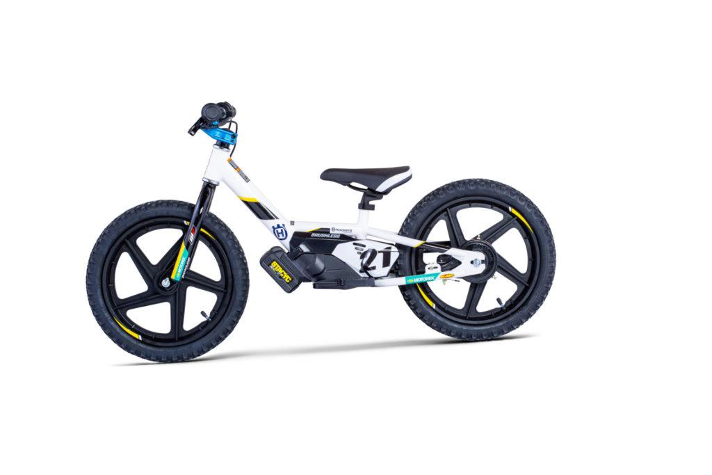 A Husqvarna 16eDrive electric balance bike. Photo courtesy Husqvarna Motorcycles.