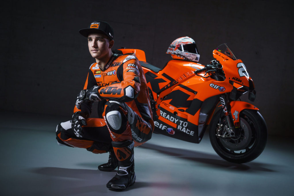 Iker Lecuona and his KTM RC16. Photo by Sebas Romero, courtesy KTM Factory Racing.