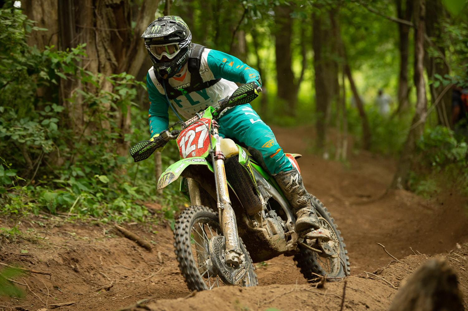 GNCC racer Jordan Ashburn (127) in action. Photo courtesy Dunlop.