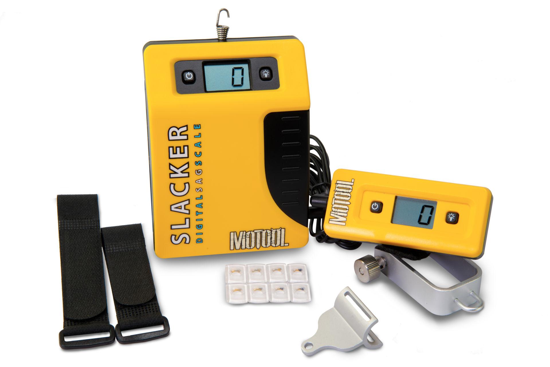 A Motool Slacker sag measuring device. Photo courtesy Motool.