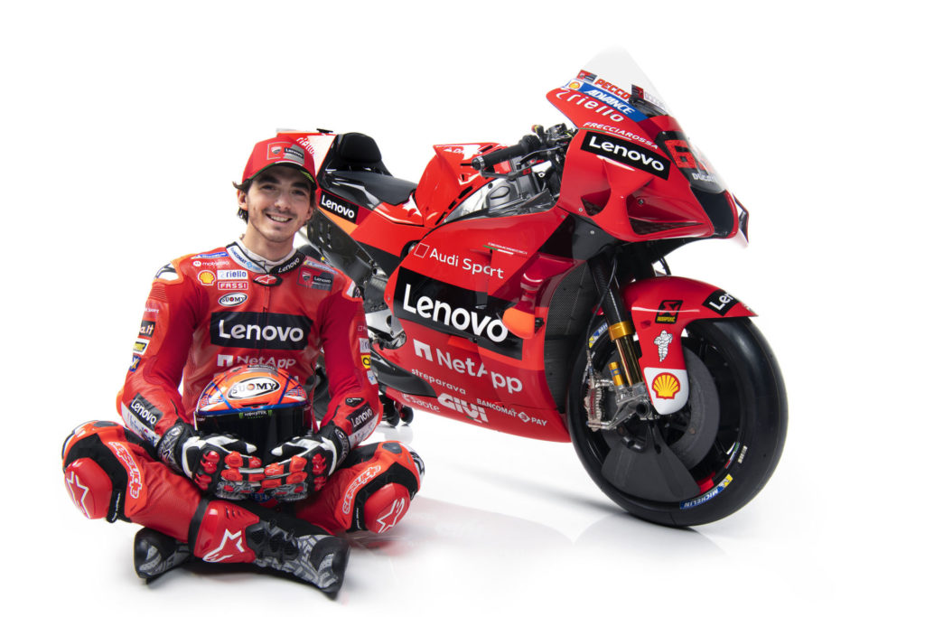 "Francesco ""Pecco"" Bagnaia. Photo courtesy Ducati."