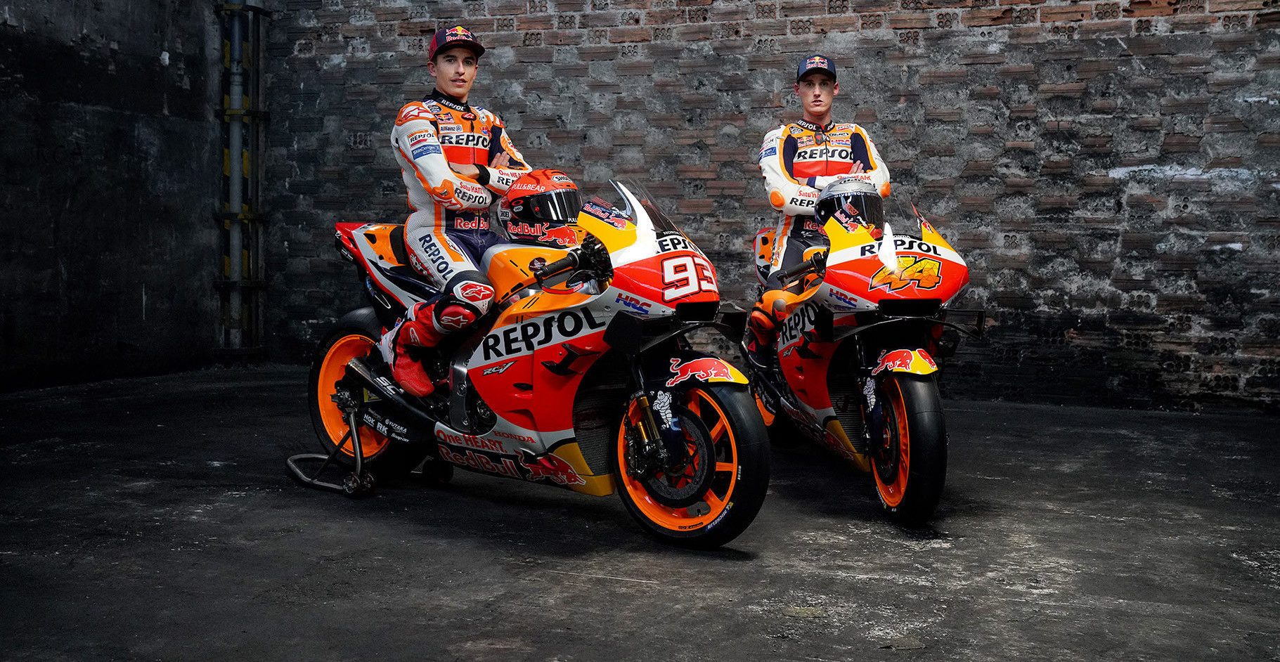 Repsol Honda's Marc Marquez (left) and Pol Espargaro (right). Photo courtesy Repsol Honda.