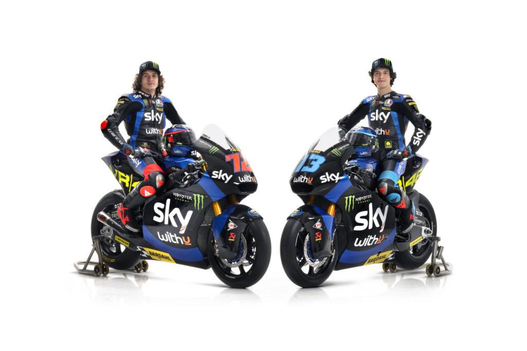 Sky Racing Team VR46 Moto2 riders Marco Bezzecchi (left) and Celestino Vietti Ramus (right). Photo courtesy Sky Racing Team VR46.