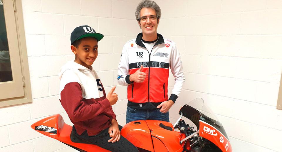 Kristian Daniel Jr. (left) and Team AGR Manager Anscari Nadal. Photo courtesy Noyes Camp.